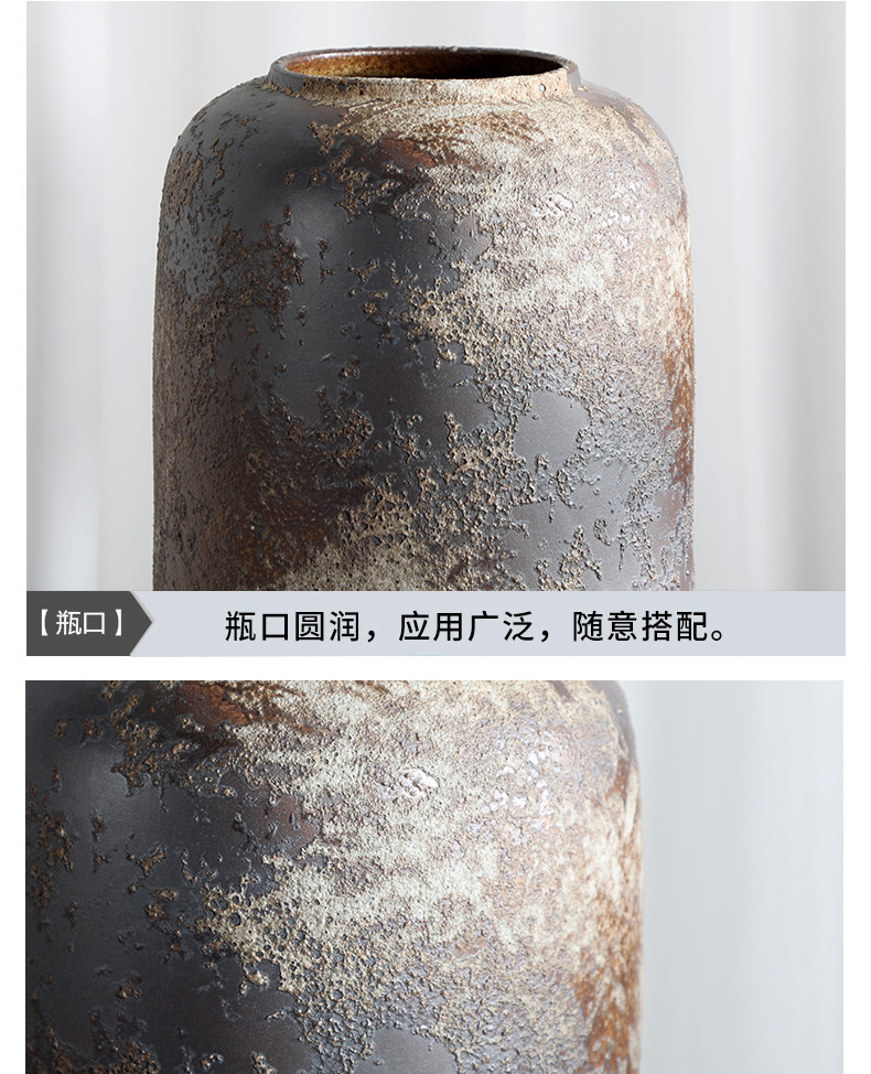 Jingdezhen ceramic vases, flower arrangement sitting room restoring ancient ways furnishing articles I and contracted reed landing pottery flowerpot kit