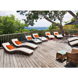 Rattan outdoor furniture leisure beach S lying bed pool beach beach loungers