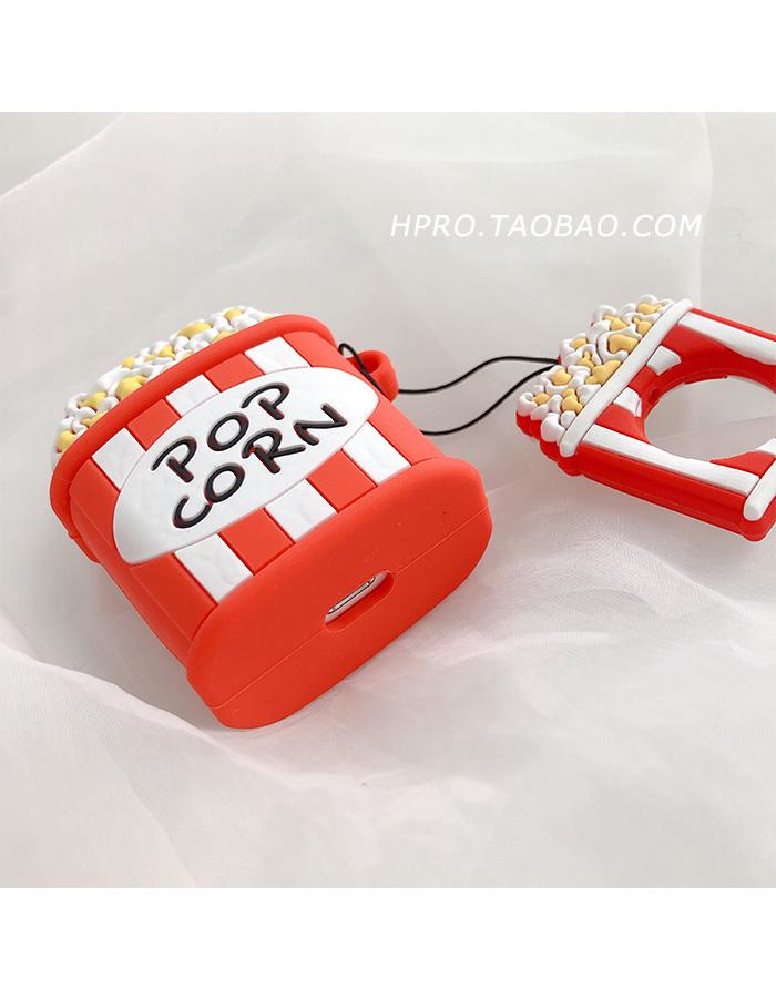 【優然】藍芽耳機airpods保護套 漢堡薯條爆米花AirPods耳機套硅膠保護套個性創意情侶防摔日韓國