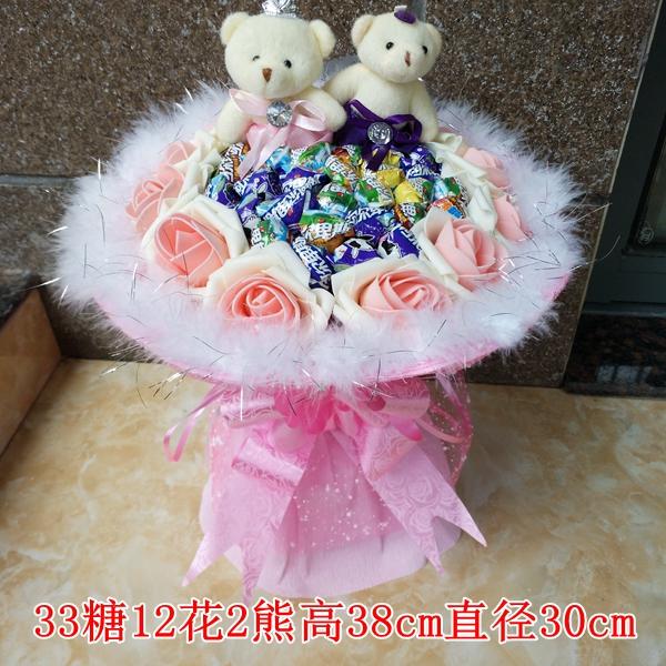 Alps lollipop bouquet cartoon bouquet candy send girlfriend birthday ...