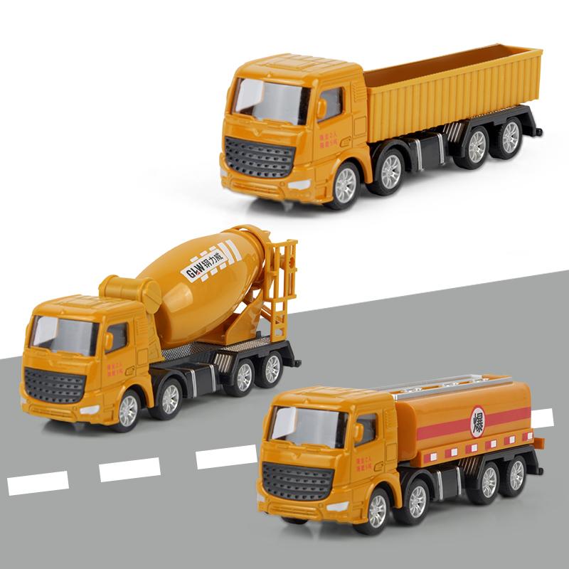 合金工程车玩具套装儿童男孩模型大号仿真翻斗挖掘机吊车工程车