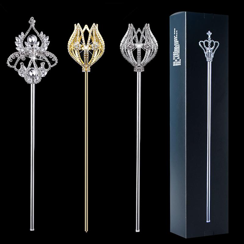 Скипетр волшебной палочки для маленькой принцессы Корона королевы короля власти наручники реквизит взрослых детские Хрустальная фея