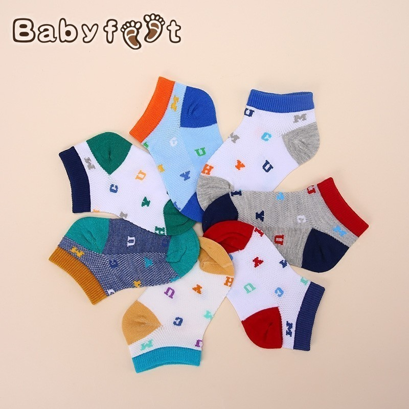 babyfeet spring and autumn new baby socks breathable children socks 2-6 years old boys and girls socks cotton socks