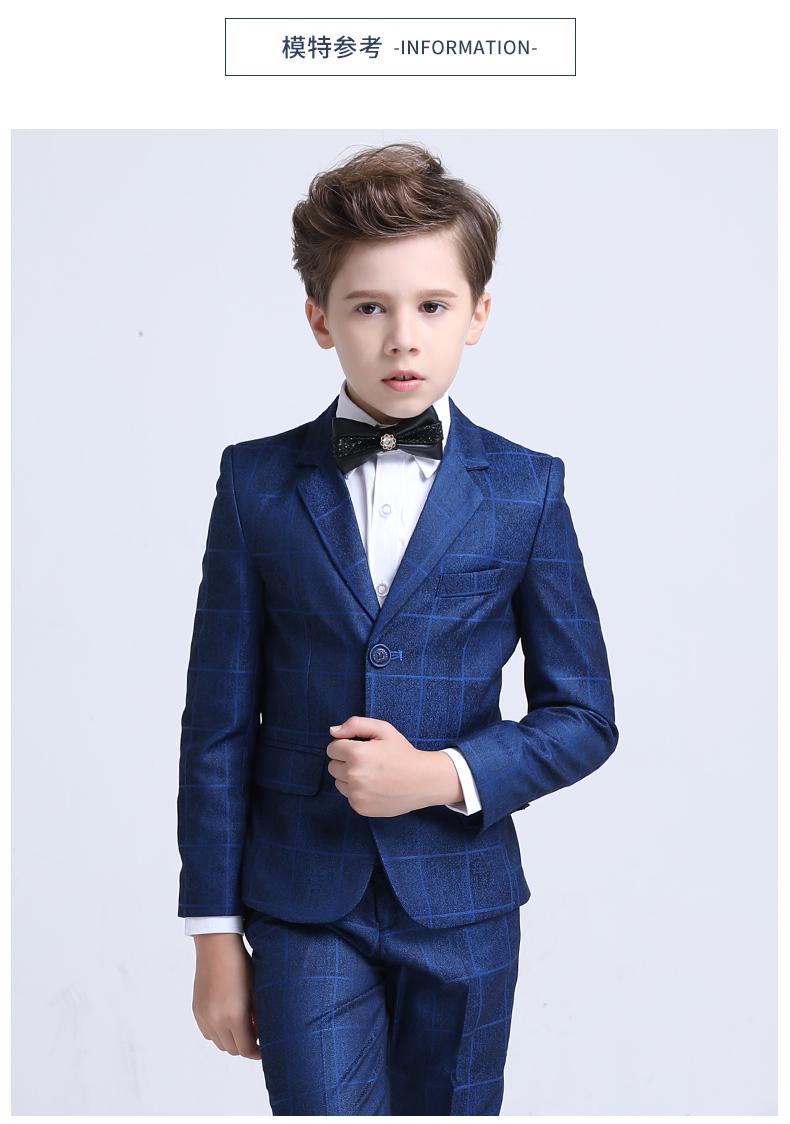 男童西装套装三件套洋气小西装钢琴演出服花童礼服儿童西服男帅气商品详情图