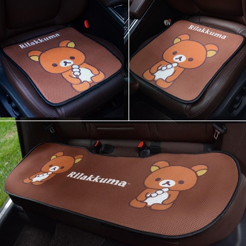 卡通夏季坐垫无座椅垫子垫三件套冰丝凉垫夏天通用汽车通风车靠背