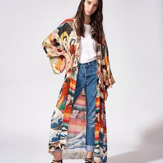 Парео,  Свободный тонкий быстросохнущие длинная модель песчаный пляж пальто япония кимоно купальный костюм иностранных взять бикини кардиган праздник солнцезащитный одежды, цена 890 руб