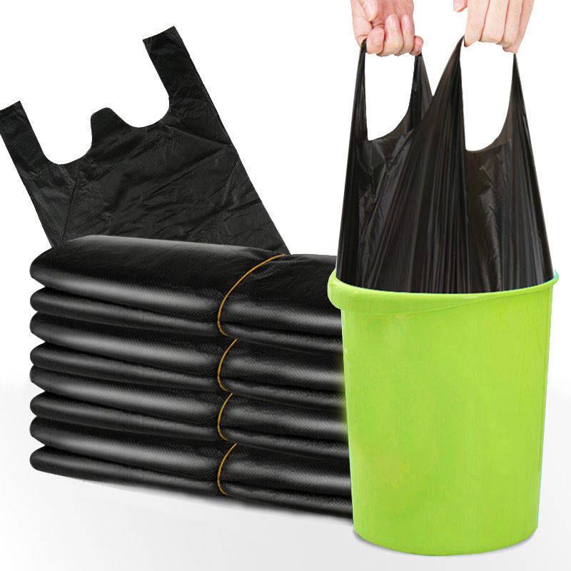 加厚垃圾袋一次性手提式家用厨房宿舍黑色中号背心式塑料袋垃圾袋