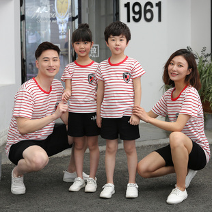 【爆款】儿童短袖t恤纯棉夏亲父子母子装