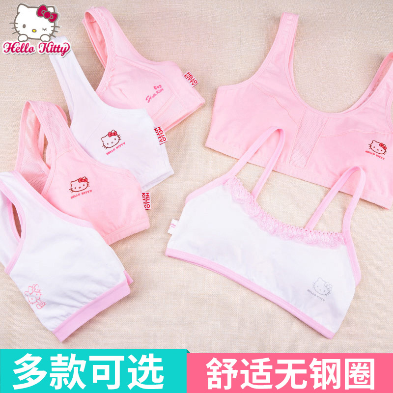 6af4f4456ff18 ... Girls development period small vest 9-12 years old children s bra cotton  hanging neck big ...