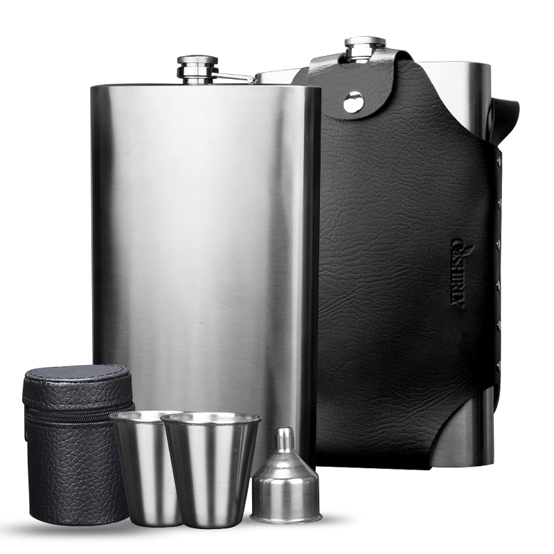 64 Oz 3 5 Kg Food Grade Thickened 304 Stainless Steel Russia Outdoor Portable Flat Water