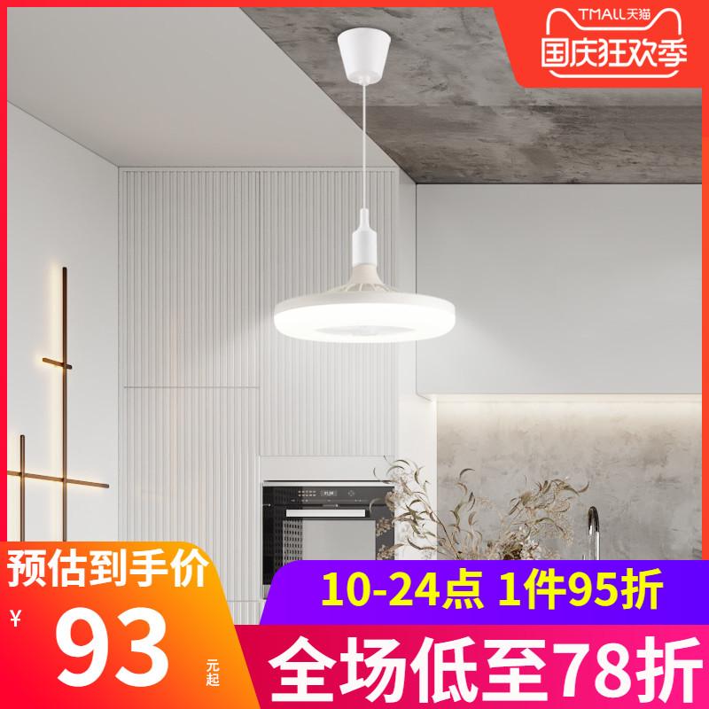 卧室小吊扇宿舍风扇灯现代简约灯扇一体静音吊扇灯带灯吸顶扇