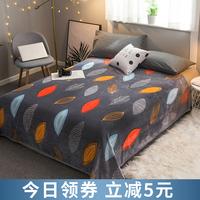 Постельное белье коралловое флис одеяло одеяло зимний утепленный удерживающий тепло замшевый плюшевые один Фланелевая кровать один один пункт