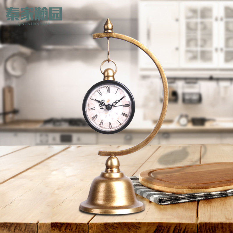 . European personality ornaments mute clock creative home interior living  room children s room small ornaments fashion ornaments hanging bell