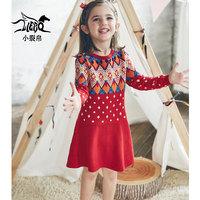 Маленькая трещина детское 2018 осень-зима платье новая коллекция на девочку длинный рукав Платье осеннее платье для маленькой принцессы Юбка 56150060