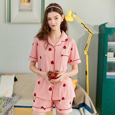 芬腾玛伦萨夏天睡衣女纯棉薄款家居服可外穿甜美可爱睡裙女夏季款