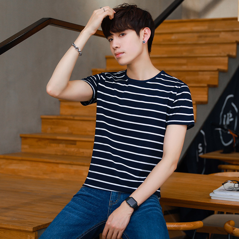 Usd 29 56 Summer Men S Short Sleeved Korean Version Of The Trend Of