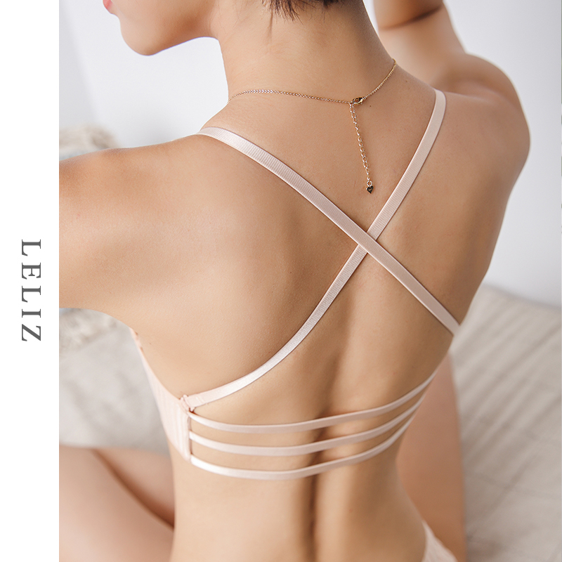 3c7a23b0d USD 39.14  Front buckle cross belt beauty back bra gather thickened ...