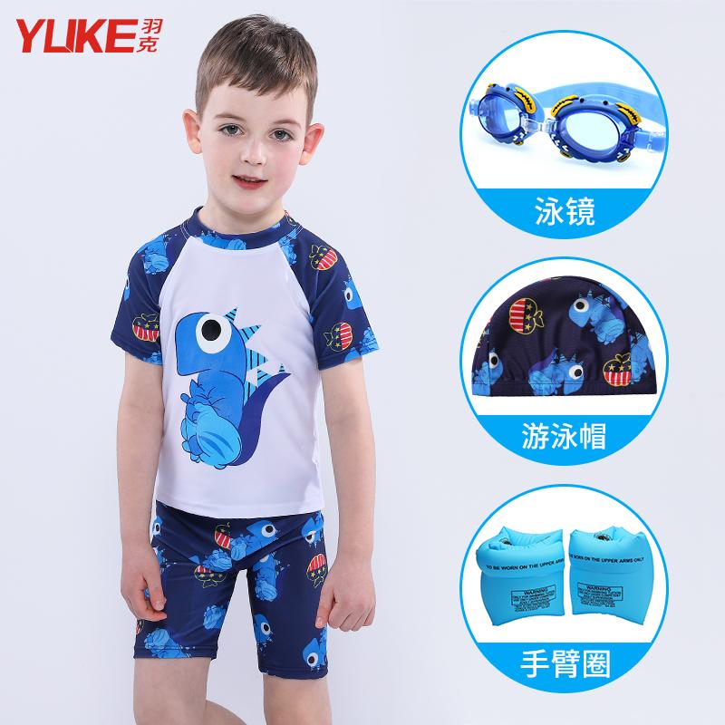 54dded15ee ... Children's swimwear boys swim trunks big boy split swimsuit boys cute  cartoon baby swimwear send swimming ...