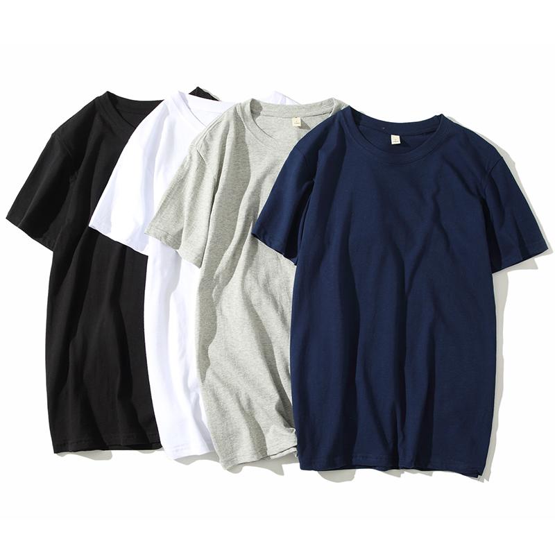 夏装衣服打底衫纯棉短袖t恤男韩版纯色上衣体恤白色半袖男装潮流