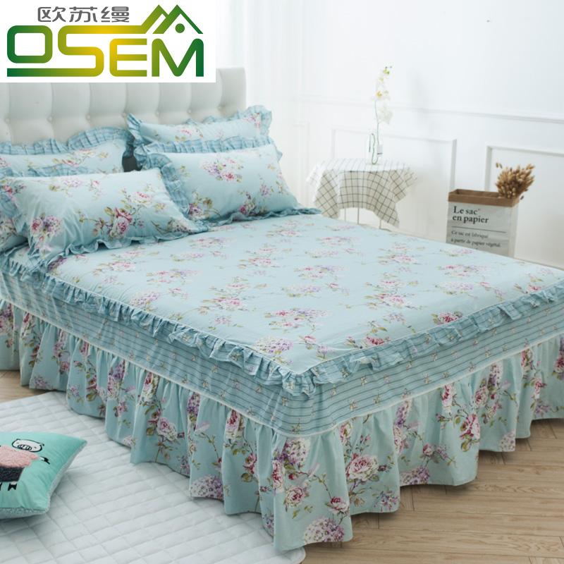 2a426a21d7e OUSU unalominated cotton flounced bedspread cotton bed skirt single-piece  non-slip bed linen 1 5m1 8 m 20 bed