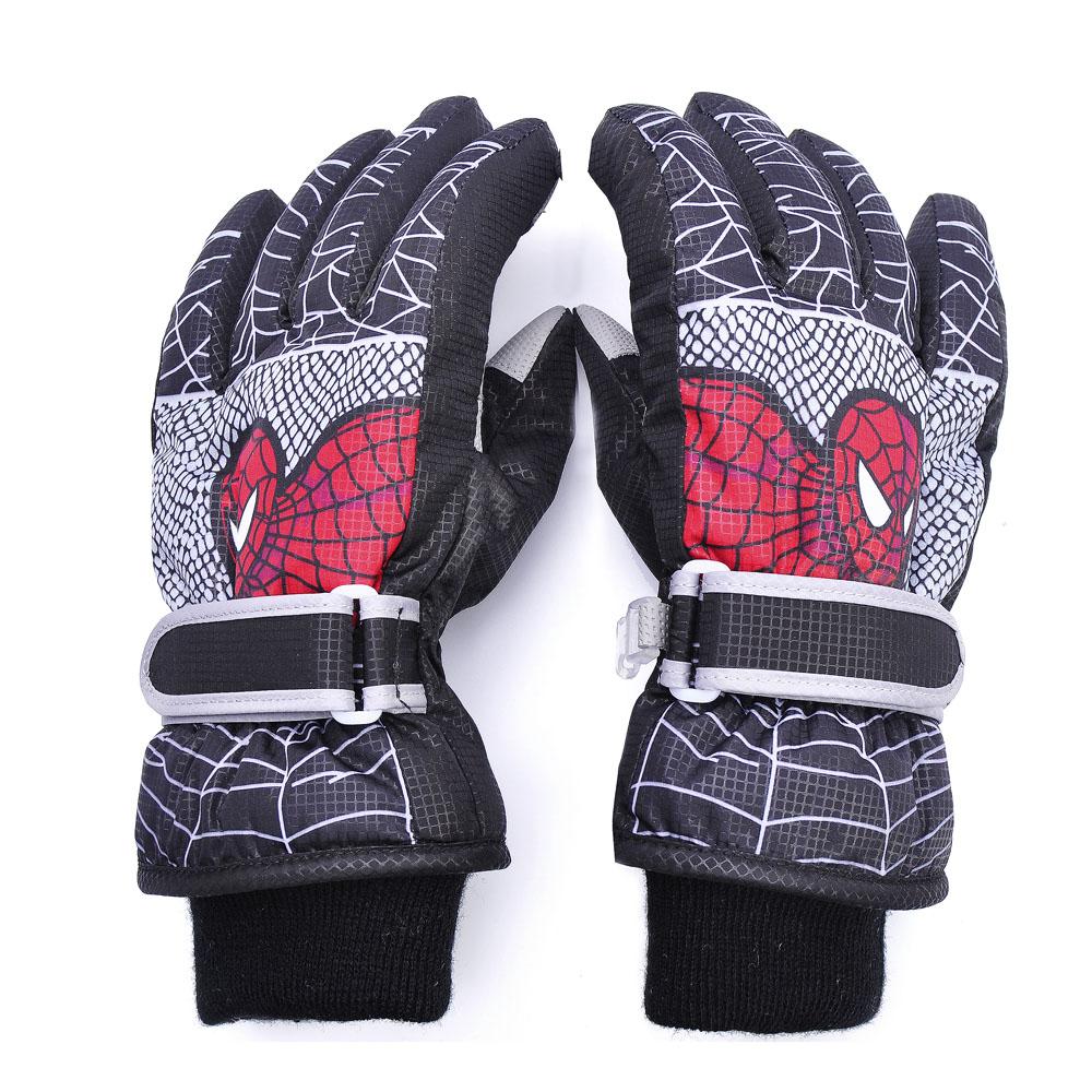 Găng tay hoạt hình mùa đông trẻ em găng tay trượt tuyết ngoài trời bé dày và không thấm nước nam và nữ găng tay găng tay bông chống trượt - Găng tay