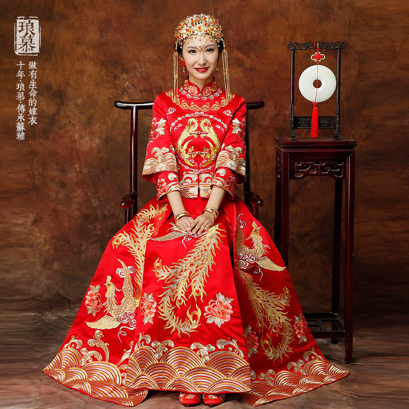 USD 220.91] 2018 new show WO dress bridal gowns Chinese wedding ...