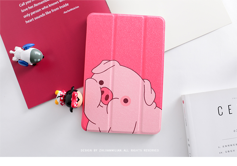 Cute Pig Magnet Flip Cover For Ipad Pro 10.5