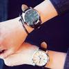 Large dial Korean fashion simple female watch tide belt men's watch student casual couple ultra-thin waterproof quartz watch