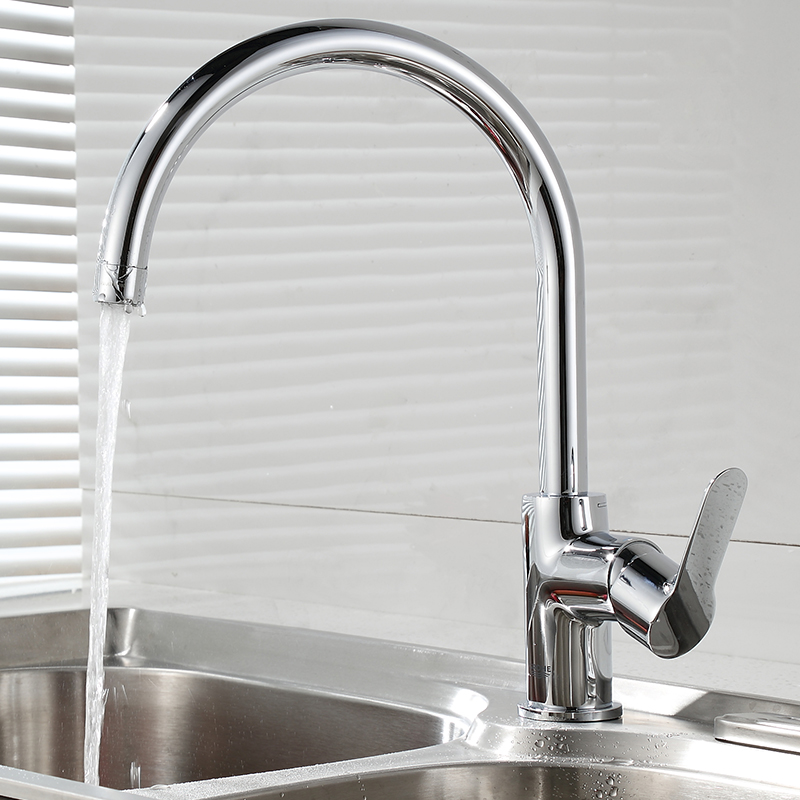 USD 747.05] GROHE kitchen faucet wash dishes basins rotatable grohe ...