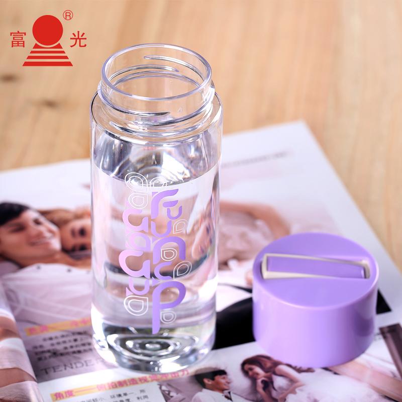 富光 创意塑料太空杯350ml+送提绳杯套+杯刷