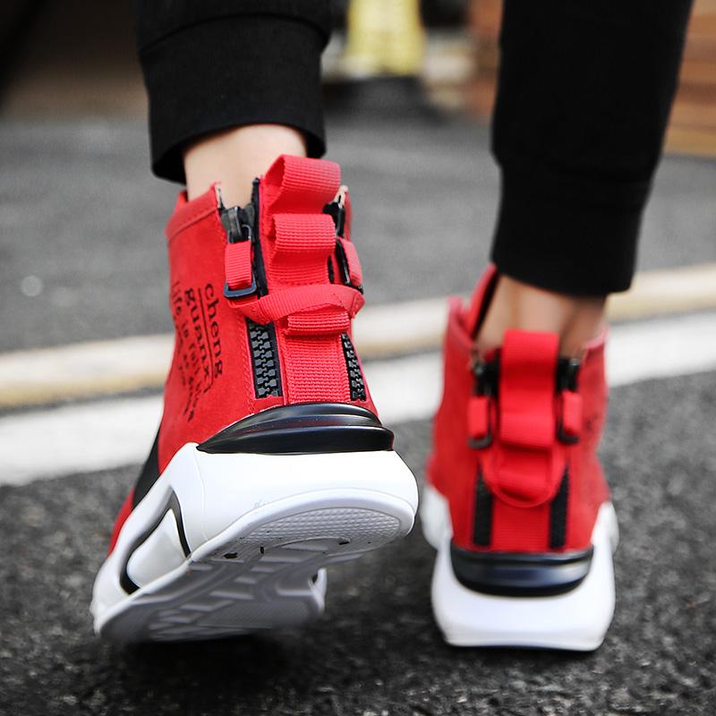 男鞋夏季潮鞋帆布高帮鞋子高邦中帮男士休闲运动板鞋嘻哈韩版潮流