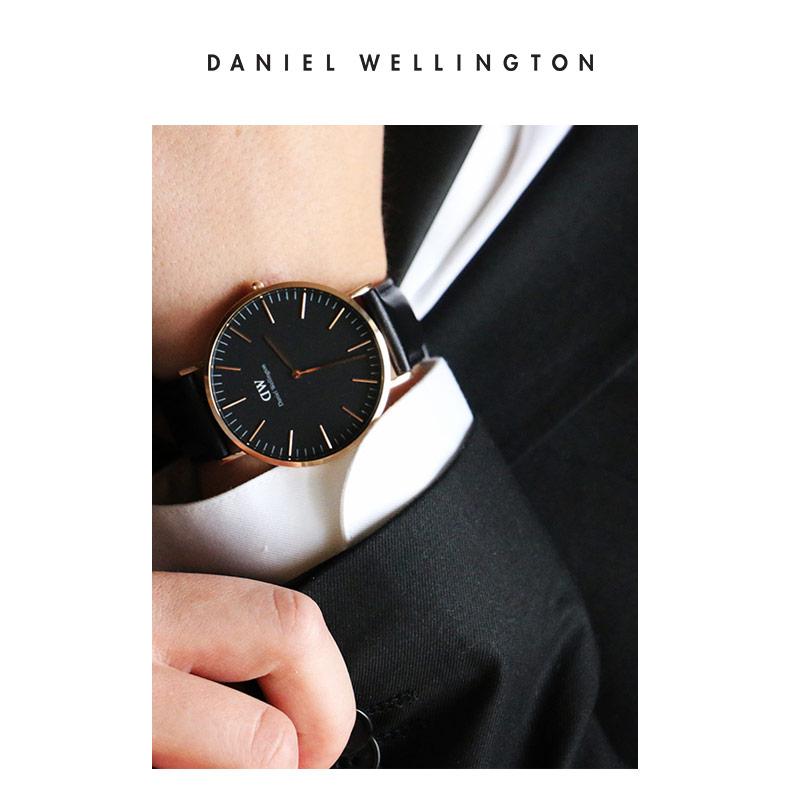 10bde7dce500 ... DanielWellington Daniel Wellington dw watch female 36MM black plate  female watch set