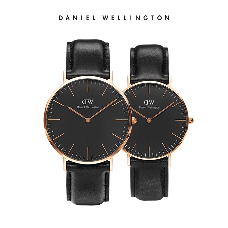 【双11预售】dw手表男女情侣皮带对表 情侣表一对装 丹尼尔惠灵顿