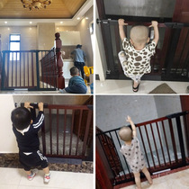 Stair Mouth guardrail childrens safety door bar solid wood fence pet free punching hole