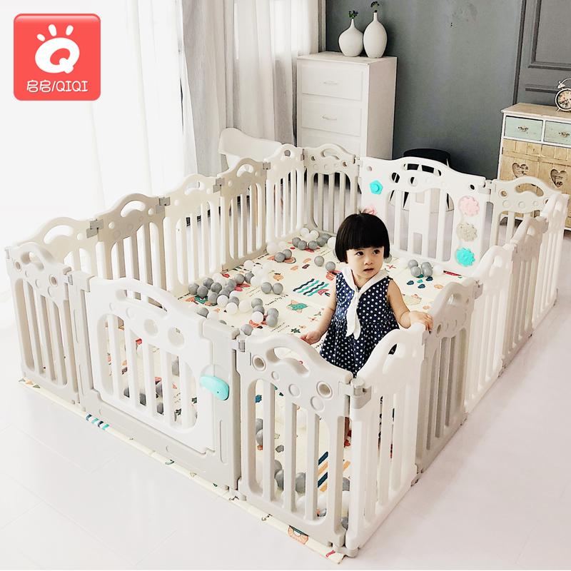 兒童遊戲圍欄室內遊樂園玩具家用寶寶嬰兒爬行學步安全防護欄柵欄