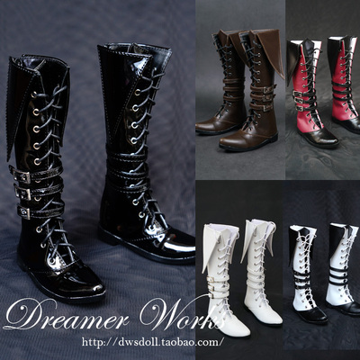 taobao agent SD BJD doll shoes 4 points 3 points sd17 black boots handsome military boots 1/4, 1/3, uncle