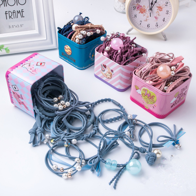 Super fairy durable hair braided string girl head rope hair ring universal children children's colorful tiara in the big child oak ribs