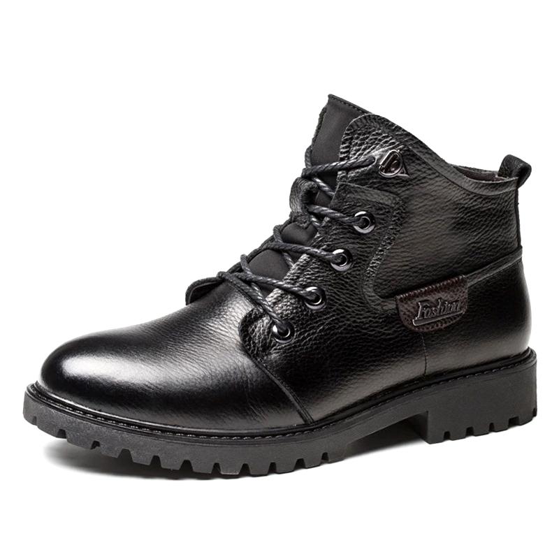 冬季真皮马丁靴男英伦风高帮鞋