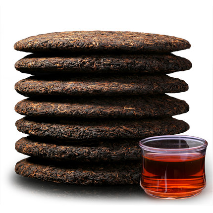 7 pieces of whole purchase 5 kg Pu'er tea cooked tea cake Yunnan 勐海味普洱熟茶七子饼357g*7片