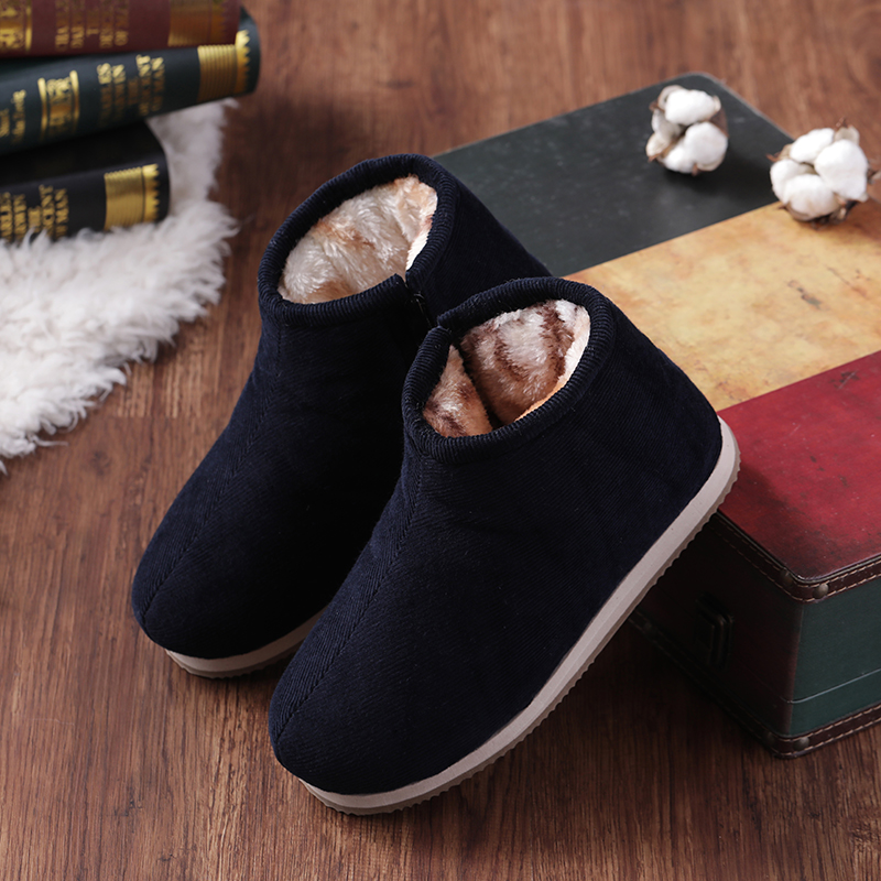 Winter hand thickened men's cotton shoes leisure office warm men's shoes low top old people's shoes thickened traditional cotton shoes