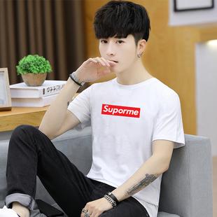 韩版100%纯棉印花t恤