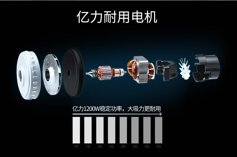 亿力吸尘器 家用手持桶式吸尘器18L,吸力稳定强劲,五层过滤结构 特价189元包邮