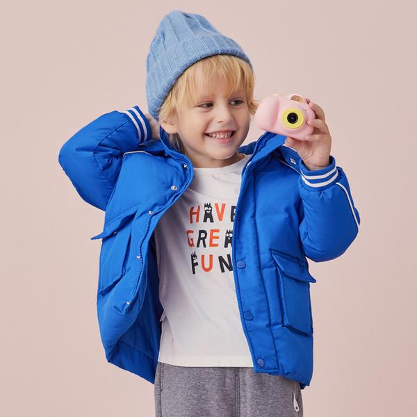 上市品牌安奈儿男女童中长款羽绒服