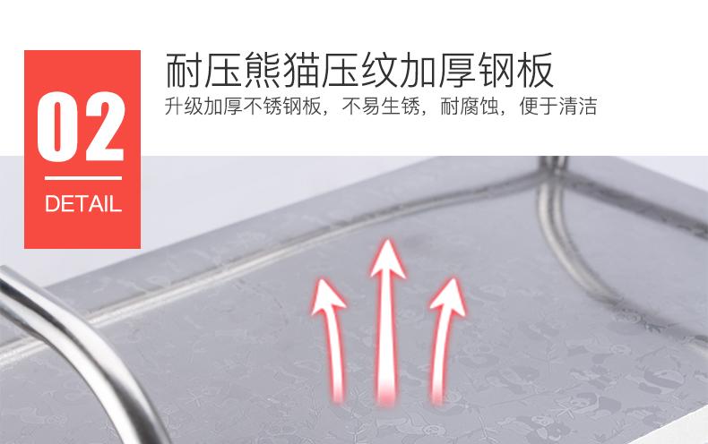 创步不锈钢厨房置物架落地多层微波炉烤箱收纳架储物用品锅碗架子商品详情图