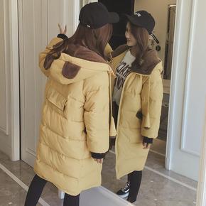 冬季外套反季棉袄中长款加厚面包服棉衣