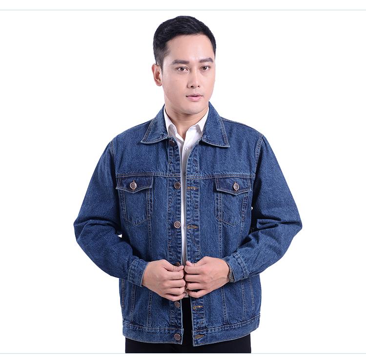 Của nam giới denim jacket tops cotton dày hàn quần áo làm việc quần áo bảo hộ ve áo mặc áo coat