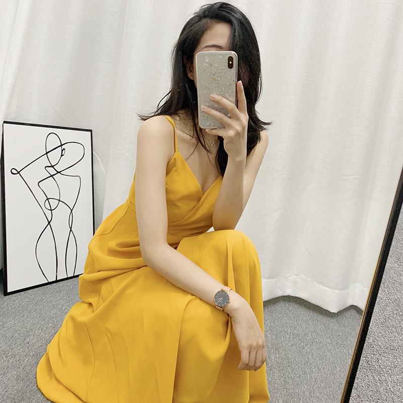 RwStudio夏季修身显瘦吊带同款明星a吊带时尚中长款连衣裙2019新款