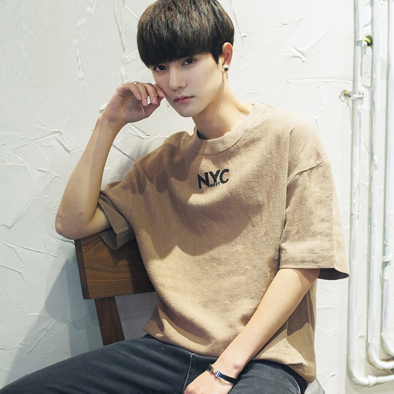 Usd 42 25 2019 New Summer Men Simple Retro Korean Version Linen
