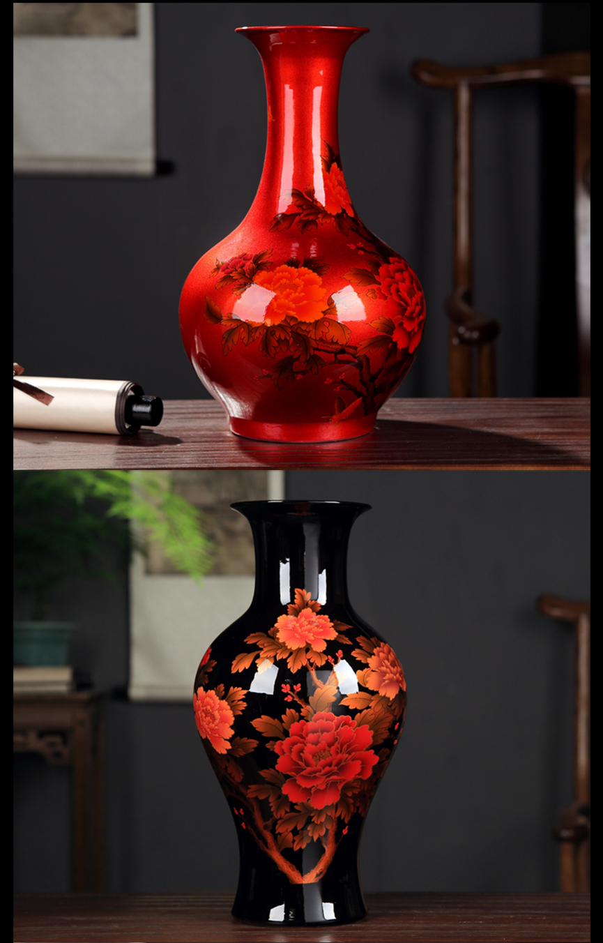 I and contracted new Chinese jingdezhen porcelain ceramic vase furnishing articles, the sitting room is blue and white trinket dried flower arranging flowers