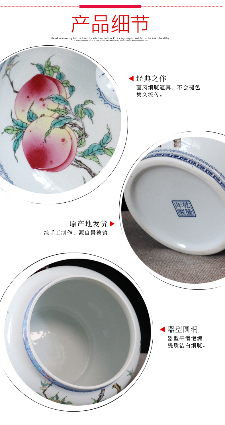 Ceramic storage tank storage barrel ricer box caddy fixings pickles pickled with cover household moistureproof insect - resistant 10 jins